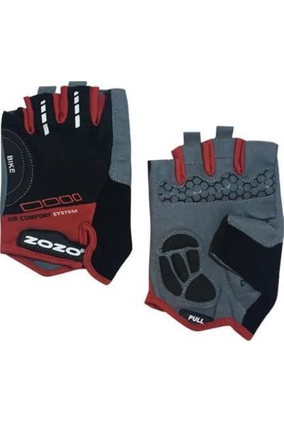 Zozo-Air Comfort Eldiven-4 Renk-Reflektörlü/silikon Jelli Siyah Kırmızı-Medium