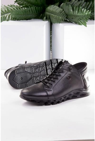 Tuğrul Ayakkabı Deri Casual Siyah Erkek Ayakkabı