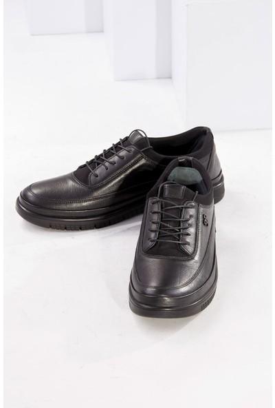 Tuğrul Ayakkabı Deri Siyah Erkek Ayakkabı