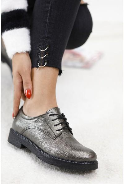 Tuğrul Ayakkabı Platin Oxford Kadın Ayakkabı