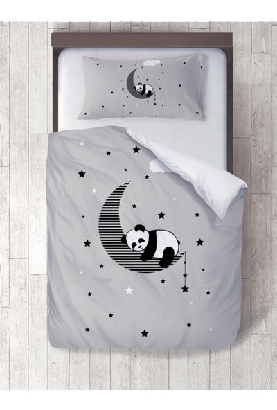 Adenka Sevimli Panda Dijital Baskılı Nevresim Takımı