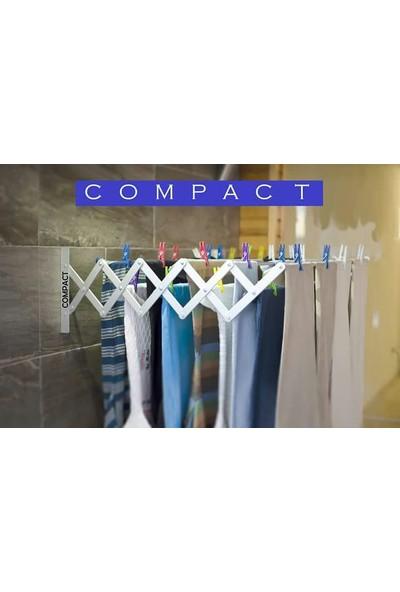Compact Çamaşır Kurutma Askısı 100 cm 9 Askılı 9 Metre Askı Alanı