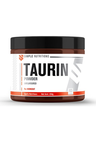 Simple Nutritions Taurin Unflavoured 250 gr