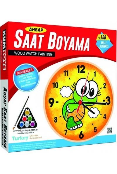 Kumtoys Saat Boyama + Halı Dokuma + Taş Boyama + Cam Vitray (4'lü Set)