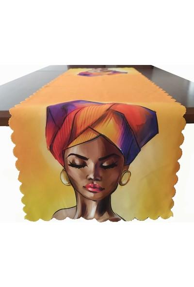 Kırlentdünyası Kırlent Dünyası Afrikalı Kızlar Temalı Dekoratif Runner