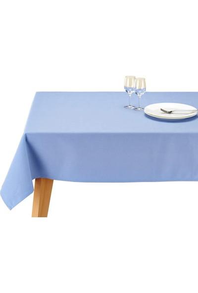 Derin Home Düz Mavi Renkli Dertsiz Masa Örtüsü 100 x 140 cm