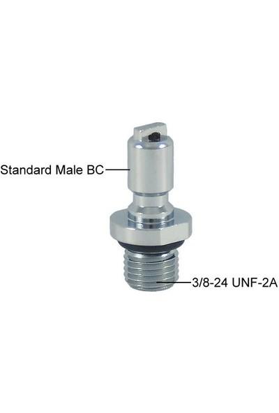 Kraken Bc Adaptör AD26 Power Standart, Inflator Hortumu Için Kolay Bağlantı Adaptörü 3/8''-24 UNF-2AT Dişi