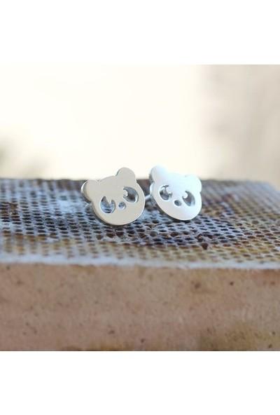 Takı Store Sevimli Panda Figürlü Gümüş Küpe