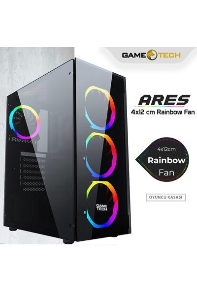 Gametech Ares Rainbow 4X120MM Fan Bilgisayar Kasası