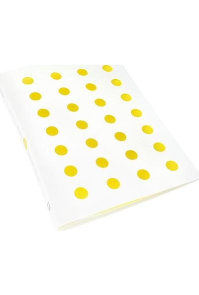 Shuter Sert Pp Kapak A4 Sunum Dosyası 40'lı Sarı Beyaz W40