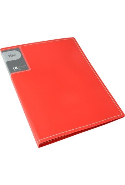 Shuter T1031 Sıkıştırmalı Sunum Dosyası Tek Makenizma Kırmızı
