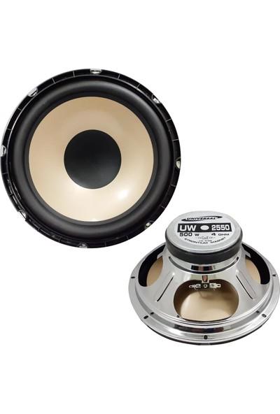 Universal Oto Bass Subwoofer 25CM 500W Sarı 1 Adet Unıversal UW-2550