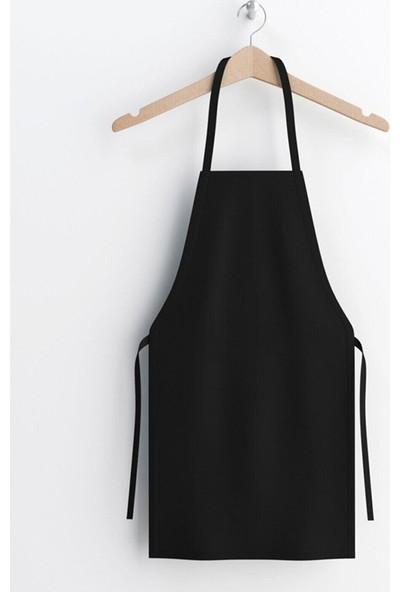 hepenuygun Siyah Sıvı Geçirmez Duck Kumaş Mutfak Aşçı Önlüğü