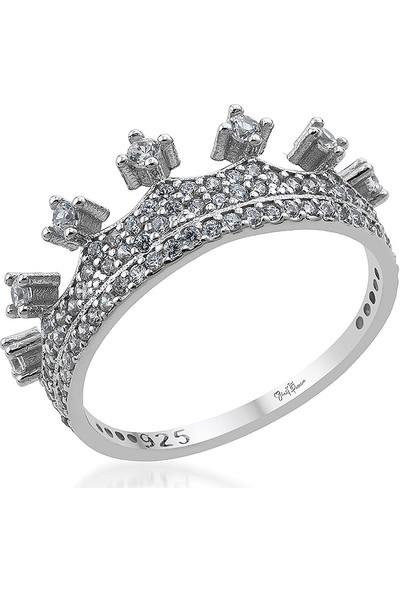 Gümüş Pazarım Kraliçe Gümüş Kadın Yüzük