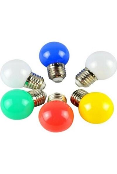 Blue Mini LED Ampul Gece Lambası Sarı Renk Burdaneve