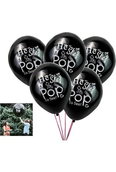 Balon 100 Adet Cinsiyet Belirleme Balonu He Or She 16 Inç