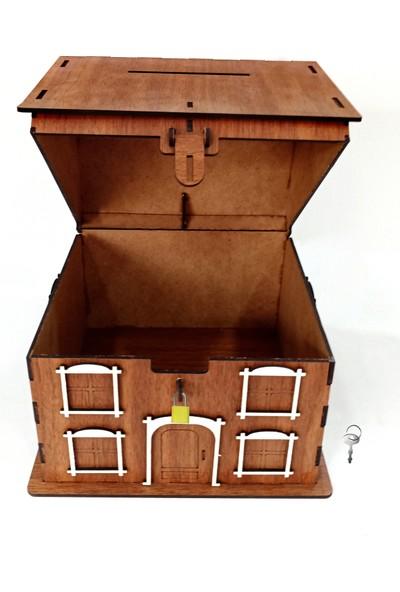 Artas Kişiye Özel Ceviz Ahşap Kumbara ve Tip Box Kutusu