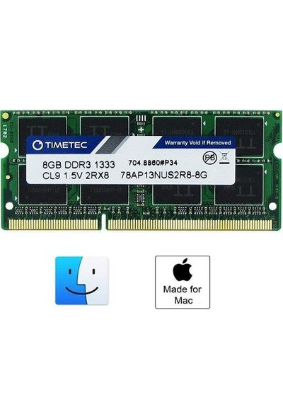 Timetec 78AP13NUS2R8-8G 8 GB DDR3 1333 MHz Non-ECC CL9 Notebook Ram