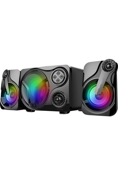 Mikado MD-BT28 5W+3W×2 Siyah LED Işıklı Speaker