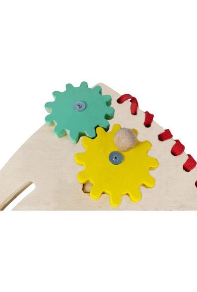 Woyt Toys Ahşap Roket Beceri Tahtası ve Renk Oyunu