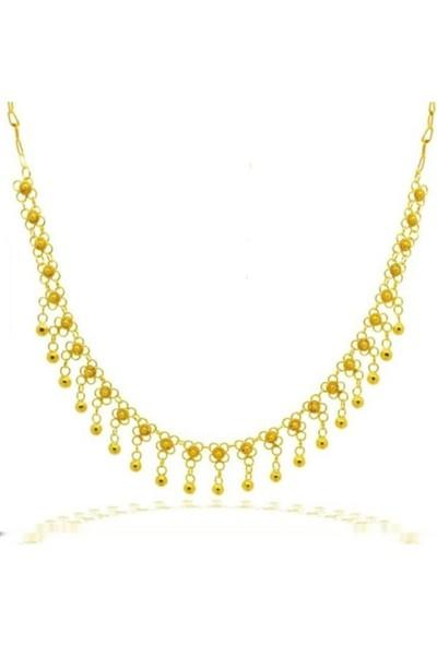 Bigakan Kadın Gümüş Altın Kaplama Kolye