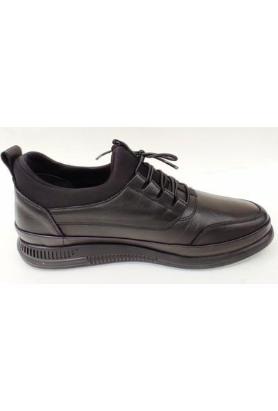 Marcomen 152-12367 Yumuşak Esnek Deri Günlük Erkek Ayakkabı Siyah 40