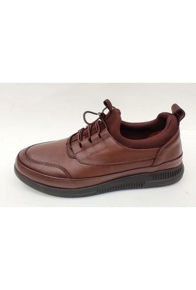 Marcomen 152-12367 Yumuşak Esnek Deri Günlük Erkek Ayakkabı Kahverengi 43