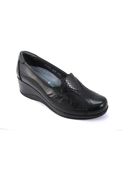 Forelli 57603 Kemik Çıkıntısına Özel Deri Kadın Ayakkabı Siyah 39