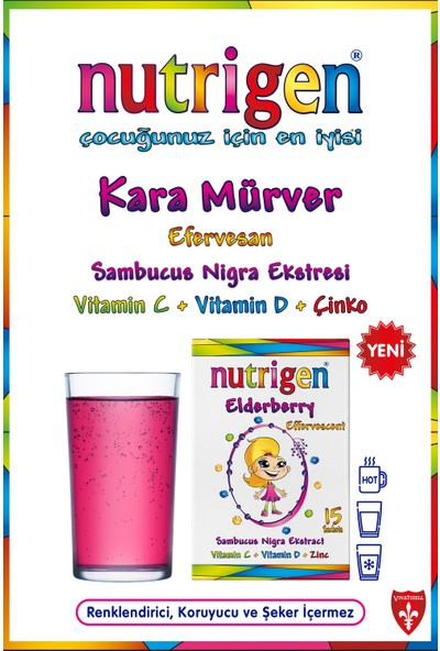Nutrigen Elderberry Kara Mürver Efervesan 15 Saşe