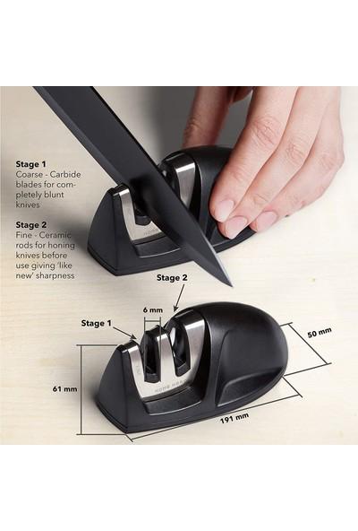 Home Hero 17 Parça Çelik Mutfak Bıçak Seti - Akrilik Standı ve 2 Kademili Bıçak Bileyicisi Dahil
