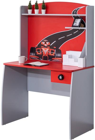 Setay Formula Genç Odası Çalışma Masası Kırmızı