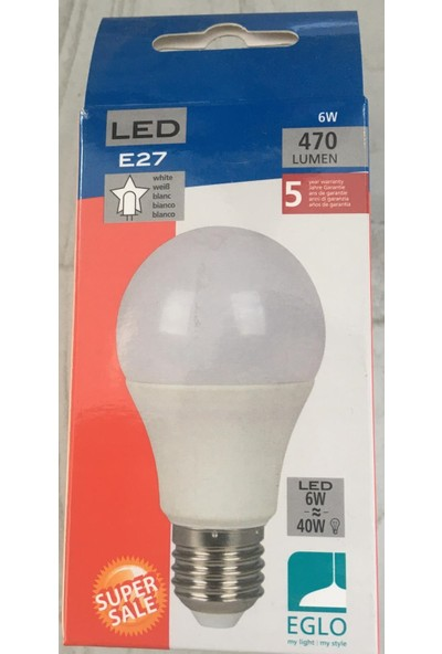 Eglo E27 6W White 470 Lumen LED Ampul