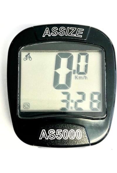 Assize AS-5000 Kablosuz Km Saati Siyah-Std