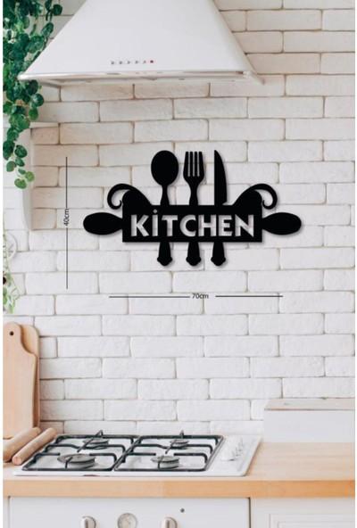 Walldeco Ahşap Dekoratif Siyah Kitchen Mutfak Tablo Mdf