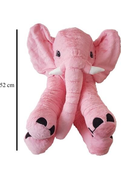 Furkan Toys Peluş Fil Pembe 52 cm
