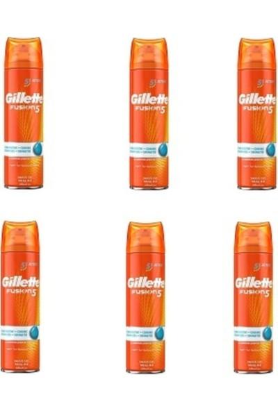 Gillette Fusion5 Ultra Hassas + Serinletici Tıraş Jeli 200 ml x 6'lı Paket