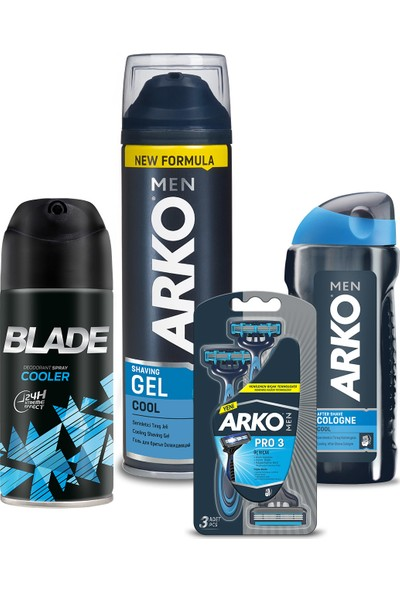 Arko Men Tıraş Seti ve Blade Deodorant 150ML