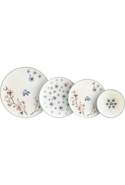 Bonna Porselen Chichi Home Sakura Pino 24 Parça Yemek Seti