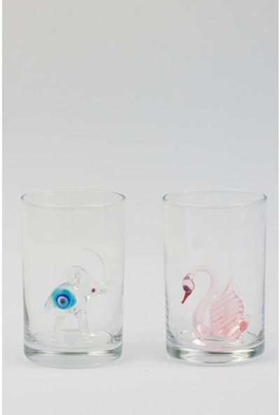 Adamodart Karışık Hayvan Figürlü Kahve Yanı Su Bardağı 6'lı Set