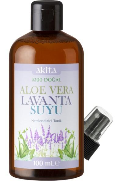Akita % 100 Doğal Aloe Vera Lavanta Suyu Cam Şişe 100mL