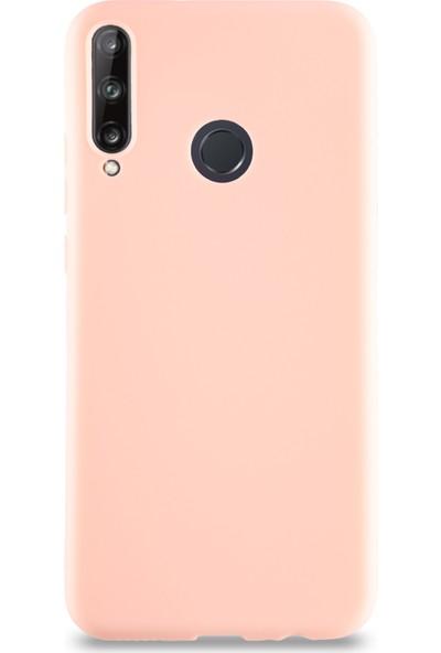 CaseArt Huawei P40 Lite E Kılıf Kamera Korumalı Premier Silikon Kapak - Pudra