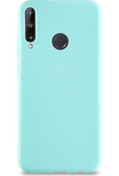 CaseArt Huawei P40 Lite E Kılıf Kamera Korumalı Premier Silikon Kapak - Turkuaz