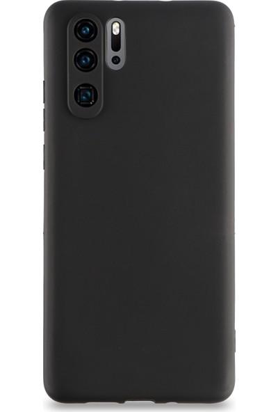 CaseArt Huawei P30 Pro Kılıf Kamera Korumalı Premier Silikon Kapak - Siyah