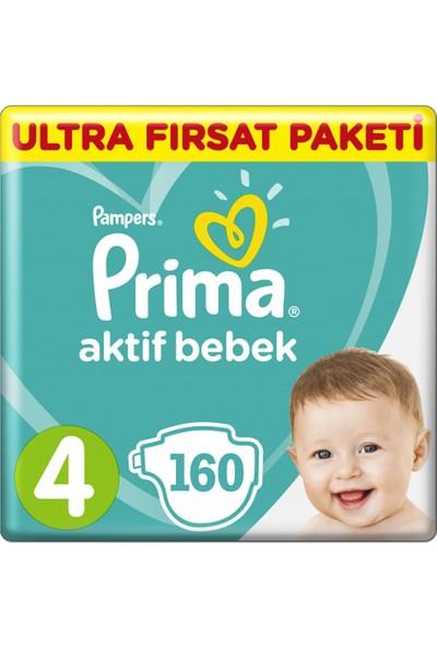 Prima Bebek Bezi Aktif Bebek 4 Beden Maxi 160'LI
