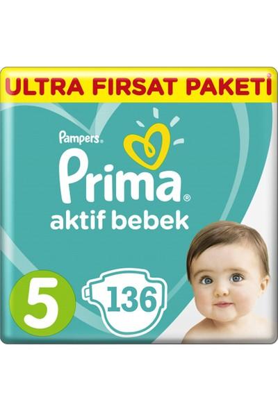 Prima Bebek Bezi Aktif Bebek 5 Beden Junior 136'LI