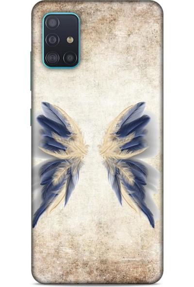 Lopard Samsung Galaxy A51 Kılıf Desenli Özel Seri Tüyler (17) Tasarım Kılıf