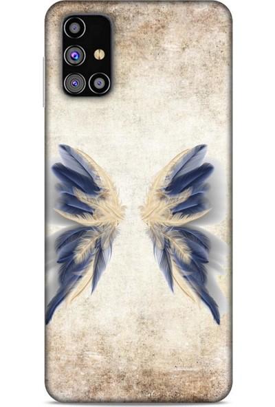 Lopard Samsung Galaxy M31s Kılıf Desenli Özel Seri Tüyler (17) Tasarım Kılıf