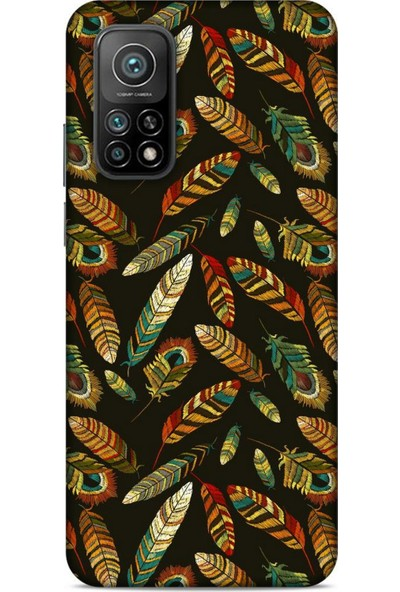 Lopard Xiaomi Mi 10T Pro 5G Kılıf Desenli Özel Seri Tüyler (9) Kılıf