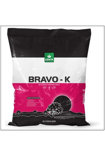 Genta Bravo K 1 kg Potasyumlu Gübre 20-0-29 Genta