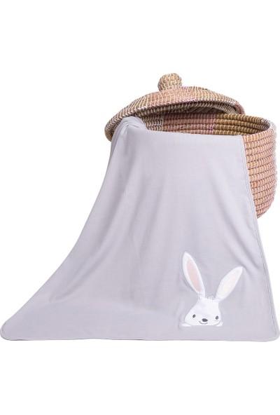 Baby Tales Bebek Pamuk Tavşan Battaniye Gri
